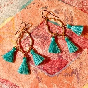 Anthropologie Moroccan Tassel Earrings NWOT